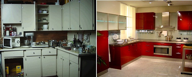 dapur lama dan baru