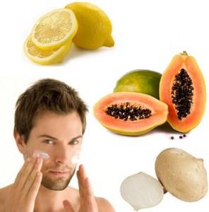 Perawatan alami Wajah pria