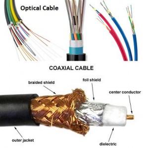 perbedaan kabel optic dan coaxial