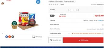Promo Paket Sembako Ramadhan yang Mudah dan Murah