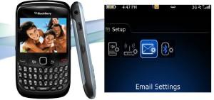 setting email blackberry
