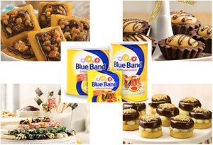kue dengan blue band