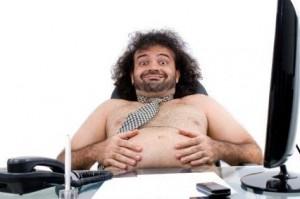 pria gemuk dikantor