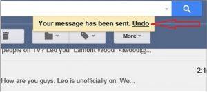 undo pada gmail