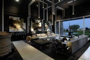 ruangan dengan suasana gothic